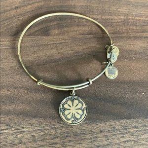 Alex and Ani gold celtic bracelet